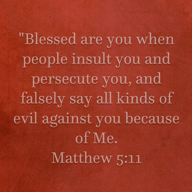 Blessed are you when people